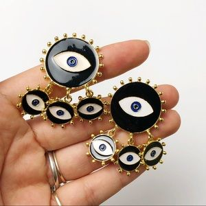 Circle Eye Earrings